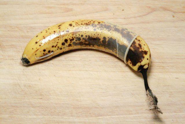 plátano en lugar de grasa